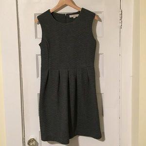 LOFT Dresses - Grey quilted dress